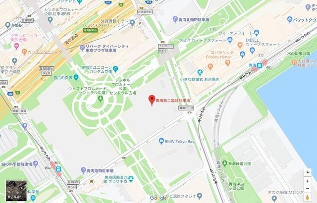 青海第2臨時駐車場Googlemap