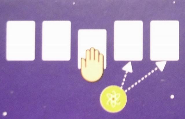 共通の場から宇宙カードを1枚獲得するアイコン